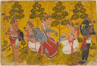 Lakshmana Removes A Thorn From Rama's Foot, From A Ramayana Series