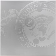 Presidential Seal Close-up in Silver