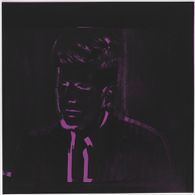 JFK Close-Up in Black and Purple