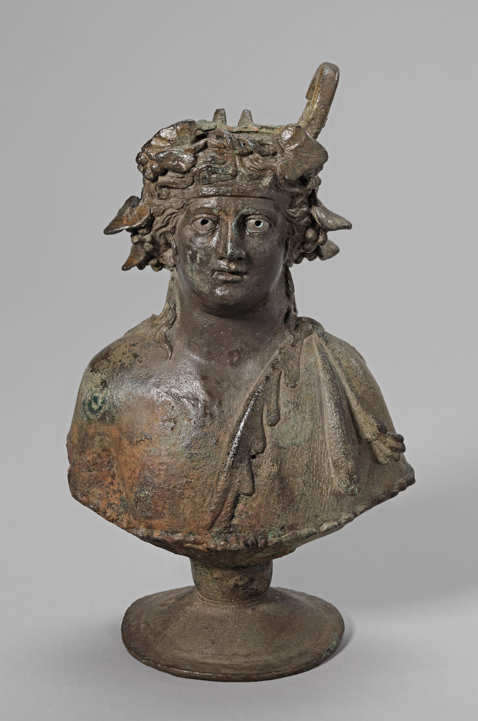 Balsamarium (Incense Burner) In The Shape Of A Bust Of Bacchus