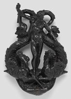 Door Knocker With Neptune And Sea Horses
