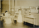 Charity, Hospitals: United States. New York. New York City. Metropolitan Hospital, Blackwell's Island: Metropolitan Hospital, New York City: View showing latest improved hospital furniture..   Social Museum Collection