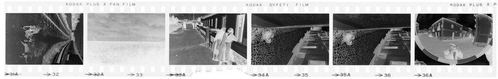 Untitled (Railroad Tracks; Coast; Women Outside Building; Cobblestrone Streets, Nazaré, Portugal)