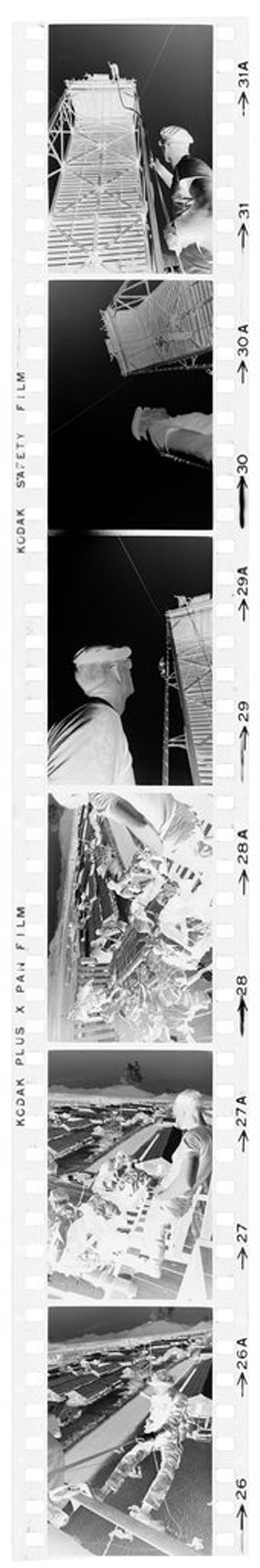 Untitled (Soldiers Rappelling From Tower During Recondo Training, Army Special Forces School, Nha Trang, Vietnam)