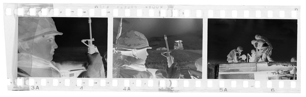 Untitled (Soldiers In Combat Gear Riding In Truck, Vietnam)