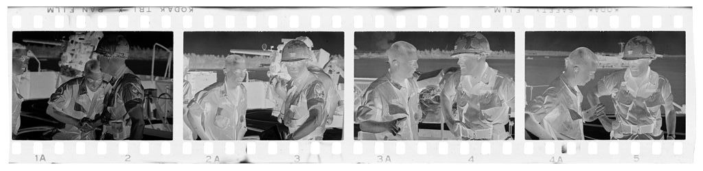 Untitled (Two Soldiers Meeting On Deck Of Ship, Vietnam)