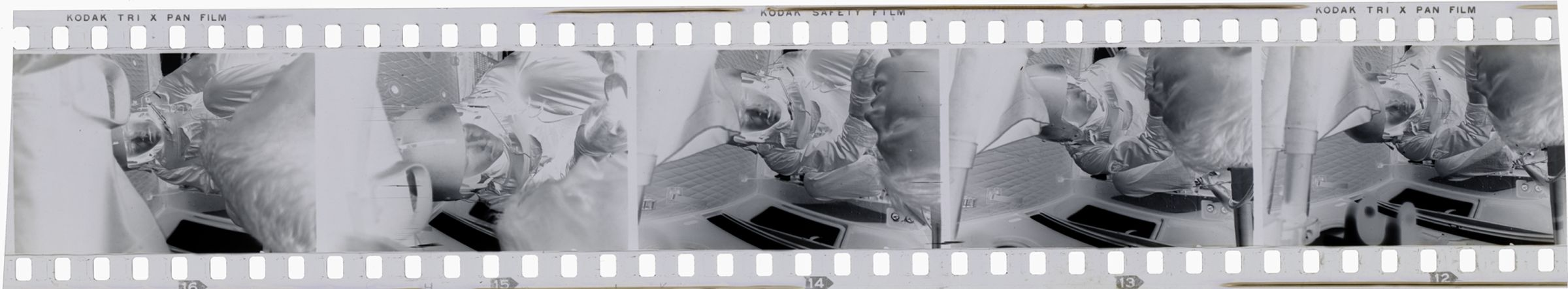 Untitled (Medic And Wounded Soldier Inside Medevac Helicopter, Vietnam)