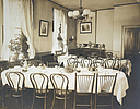 Charity, Aged: United States. New York. Rochester. Protestant Episcopal Church Home: Protestant-Episcopal Church Home, Rochester, N.Y.: Old ladies dining-room.   Social Museum Collection
