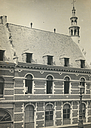 Charity, Aged: Belgium. Louvain. Refuge de Charité: Public Charitable Institutions, Louvain, Belgium: Refuge of Charity: Interior Façade facing the Court.   Social Museum Collection