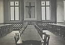 Charity, Aged: Belgium. Louvain. Refuge de Charité: Public Charitable Institutions, Louvain, Belgium: Refuge of Charity.: Dining Room..   Social Museum Collection