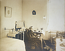 Charity, Aged: United States. New York. Rochester. Protestant Episcopal Church Home: Protestant-Episcopal Church Home, Rochester, N.Y.: One of the old ladies in her room..   Social Museum Collection