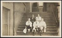Drinker, Gobb, Professor Howell, Physiology Building, Harvard 1915-1916, Digital Object