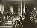 Charity, Children: United States. New York. Ogdensburg. Orphan Asylum: City Hospital and Orphanage, Ogdensburg, N.Y. (Under the direction of the Grey Nuns of the Cross): General Dining Room..   Social Museum Collection