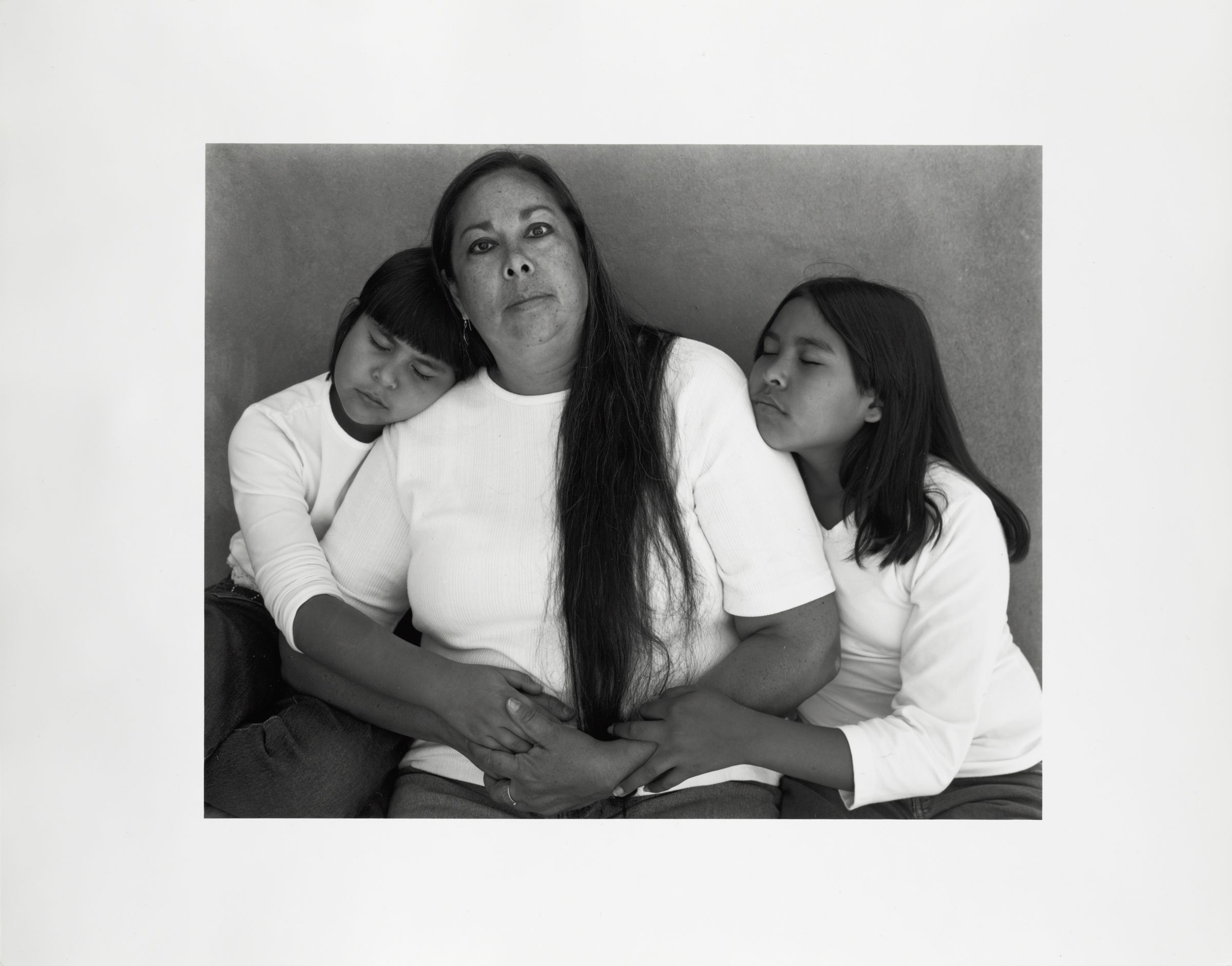 Marita Hinds With Daughters, Tesuque, Nm