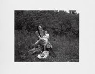 Janine Pease Pretty-on-Top with Granddaughter, Lodge Grass, MO