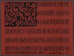 Peoples Flag Show Nov. 9 '70