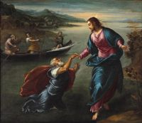 Christ And Saint Peter At The Sea Of Galilee