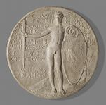 Study for World's Columbian Exposition Commemorative Presentation Medal, reverse