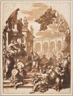 Simon Magus Rebuked by Saint Peter