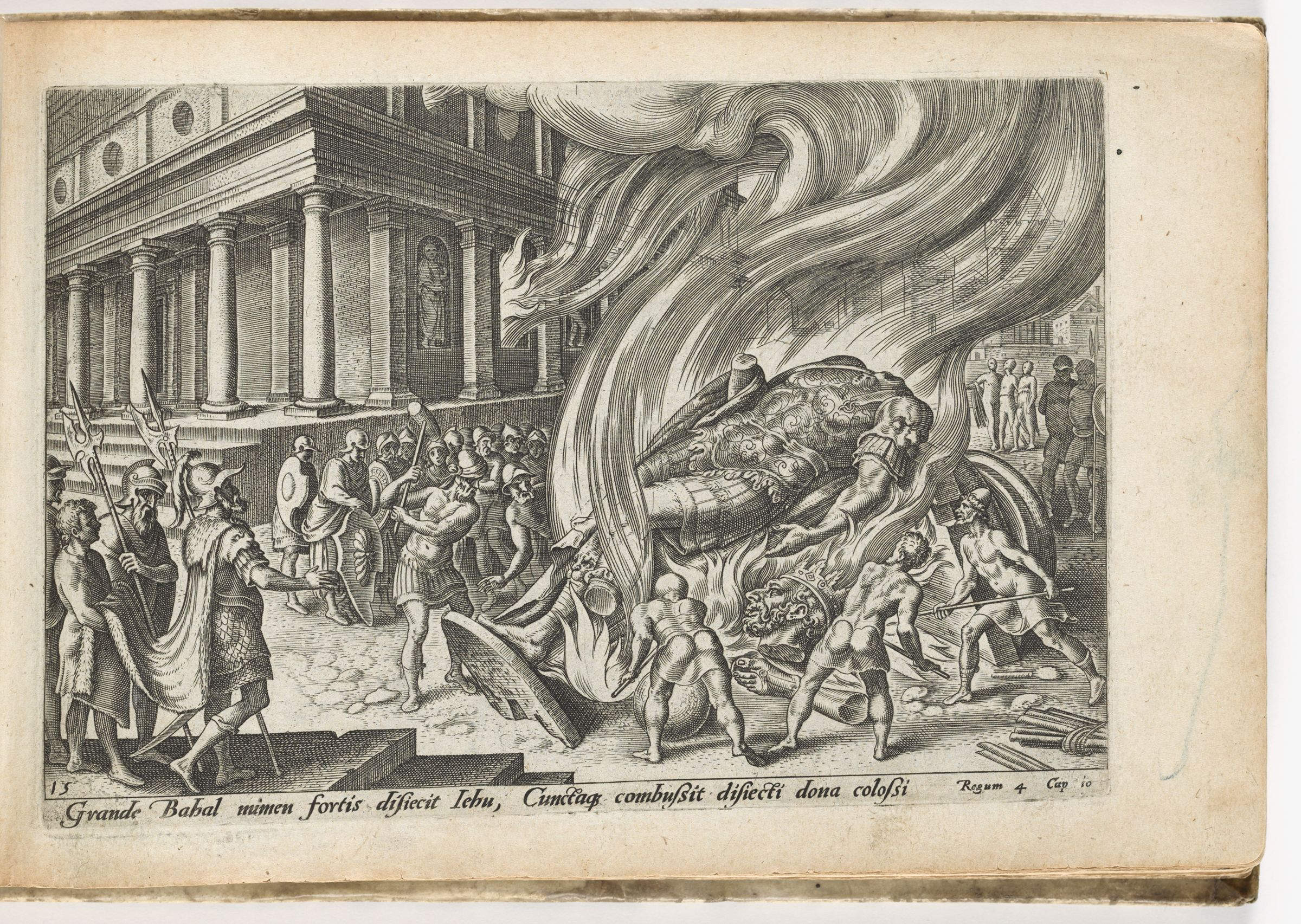 Jehu Destroying The Temple And Statue Of Baal