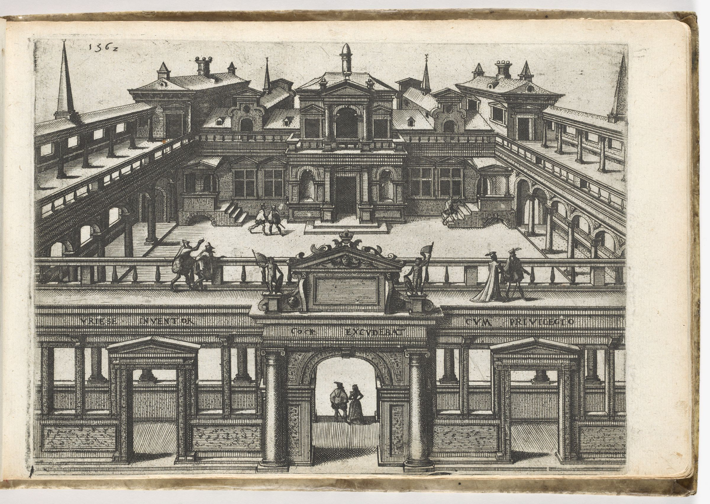 House With Columnaded Forecourt