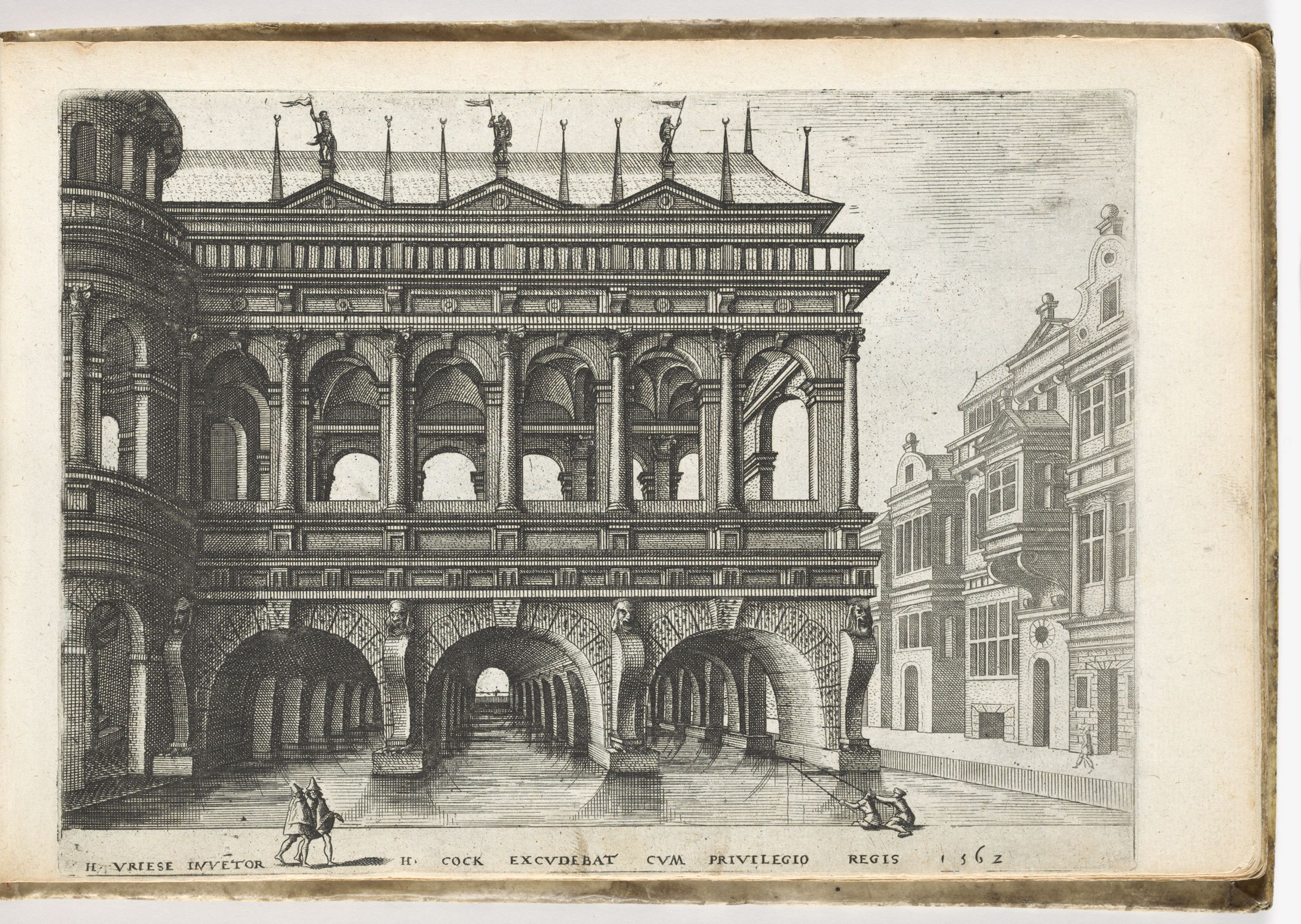 Hall On Vaulted Basement Standing In Water, On The Right Street Facade