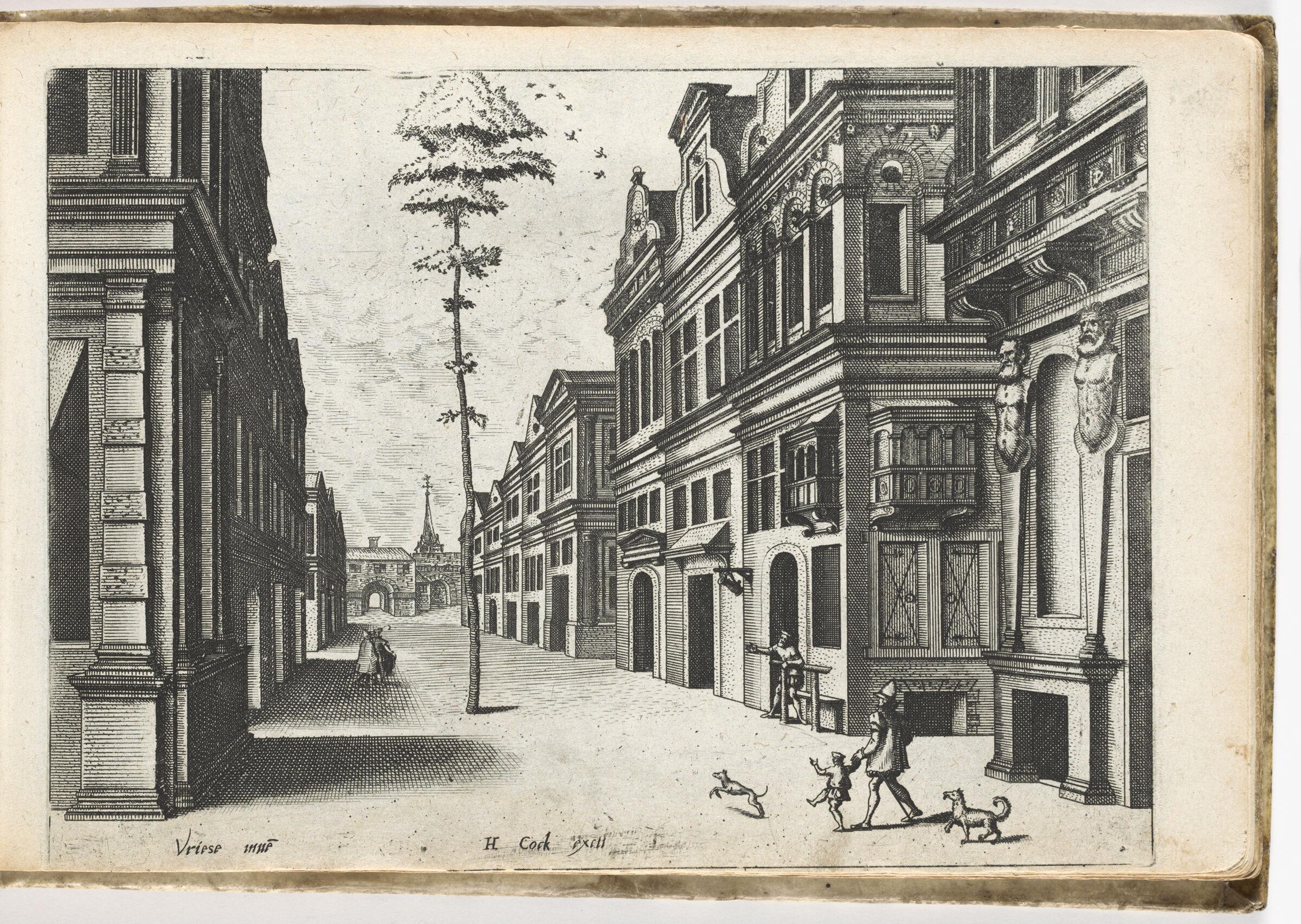 City Street With Lone Tree