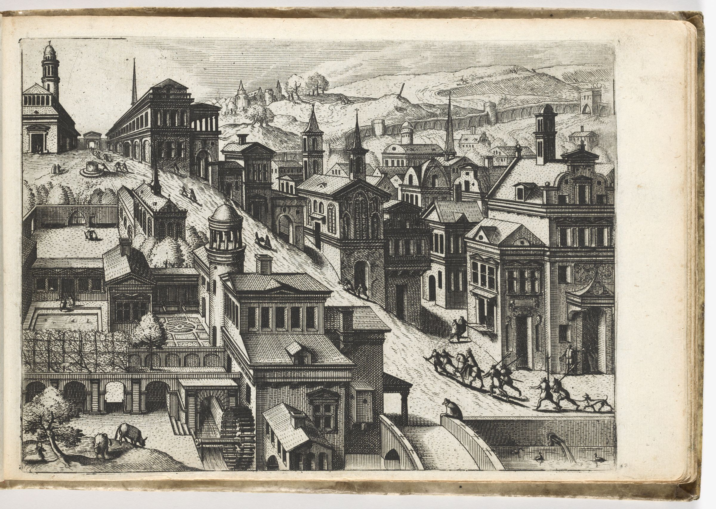 Bird's-Eye View Of A Town With A Street Going Up A Hill From Bottom Right To Top Left (N.h.)