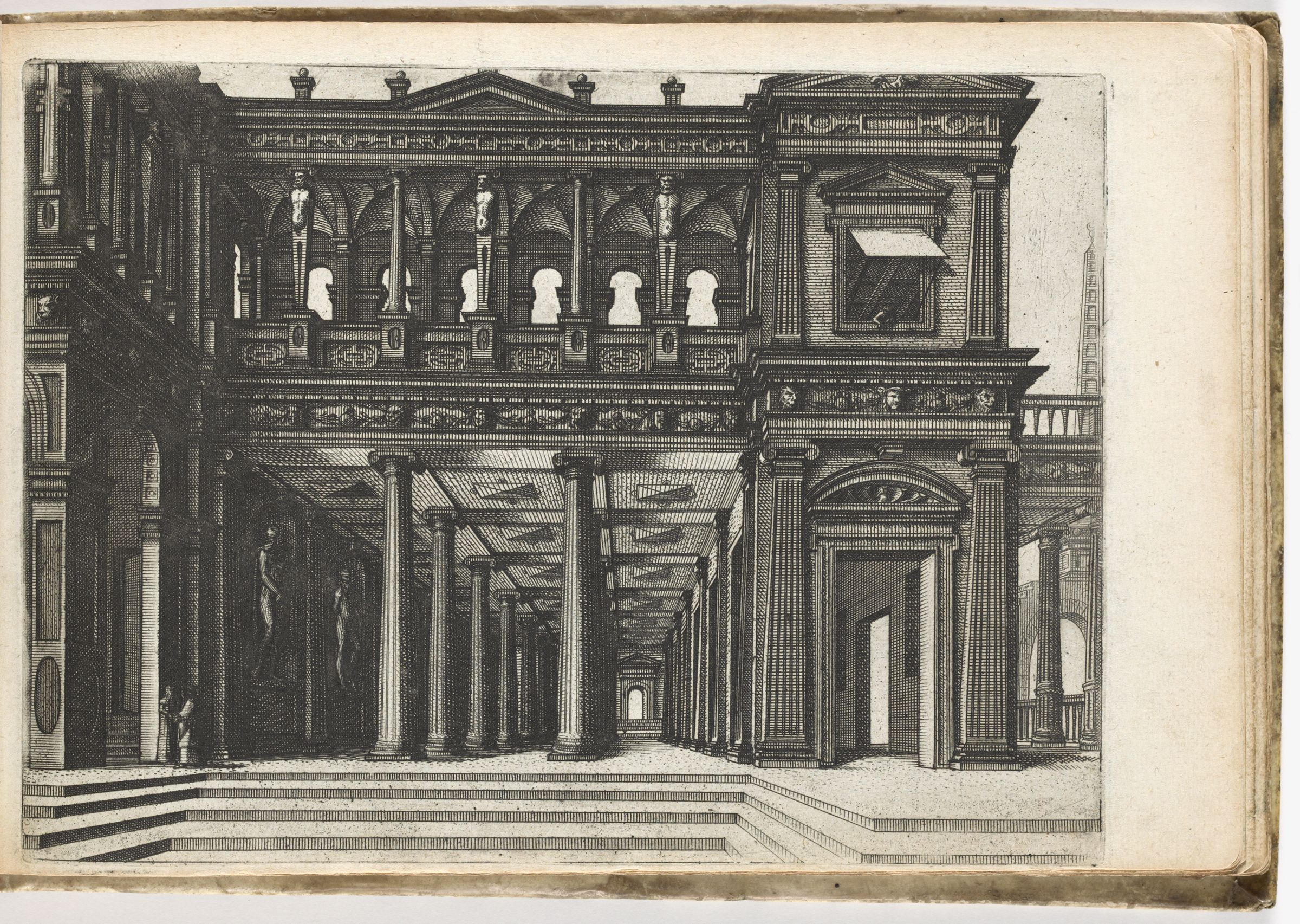 Palace With Open Hall On Groundfloor With Cancellated Columns Of The Ionic Order, On The First Floor A Colonnade