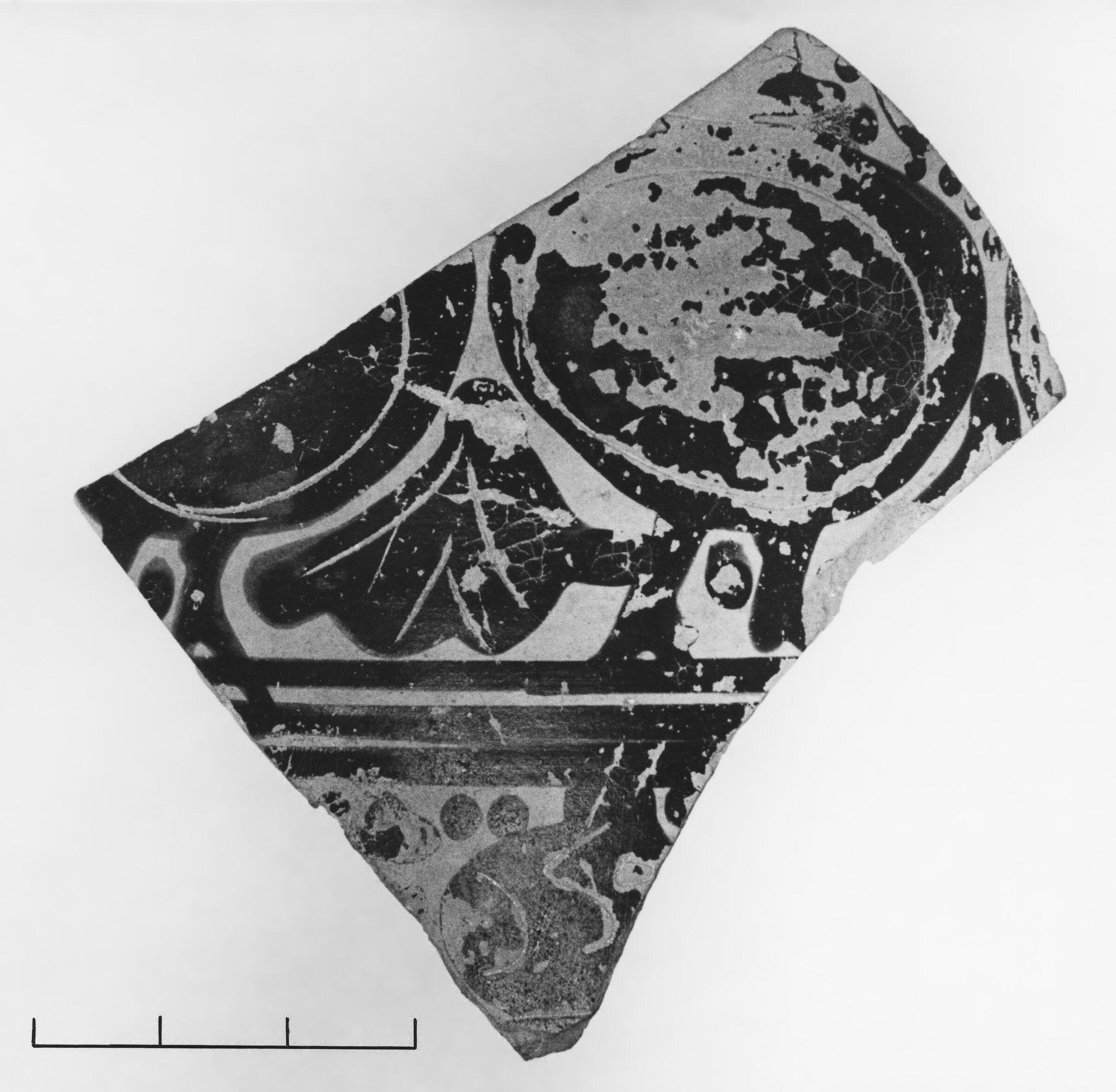 Late Corinthian Warrior Alabastron Fragment