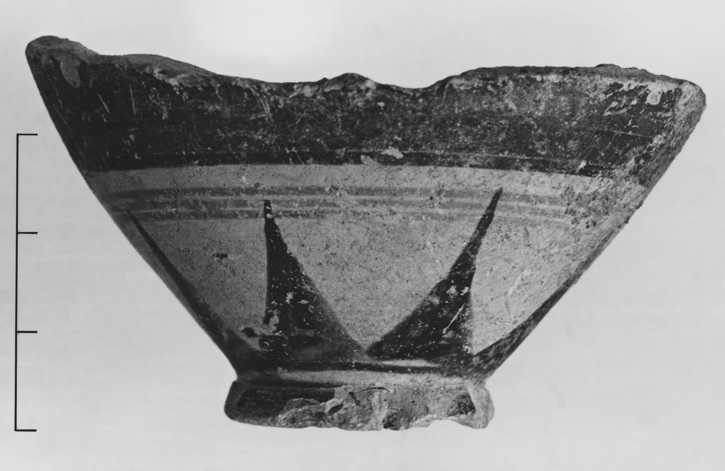 Lower Portion of a Late Protocorinthian Oinochoe