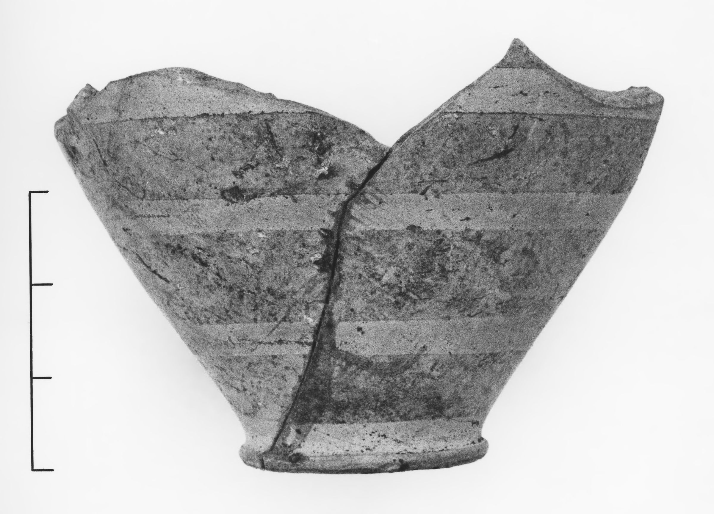 Lower Portion of a Late Protocorinthian Oinochoe or Ovoid Aryballos