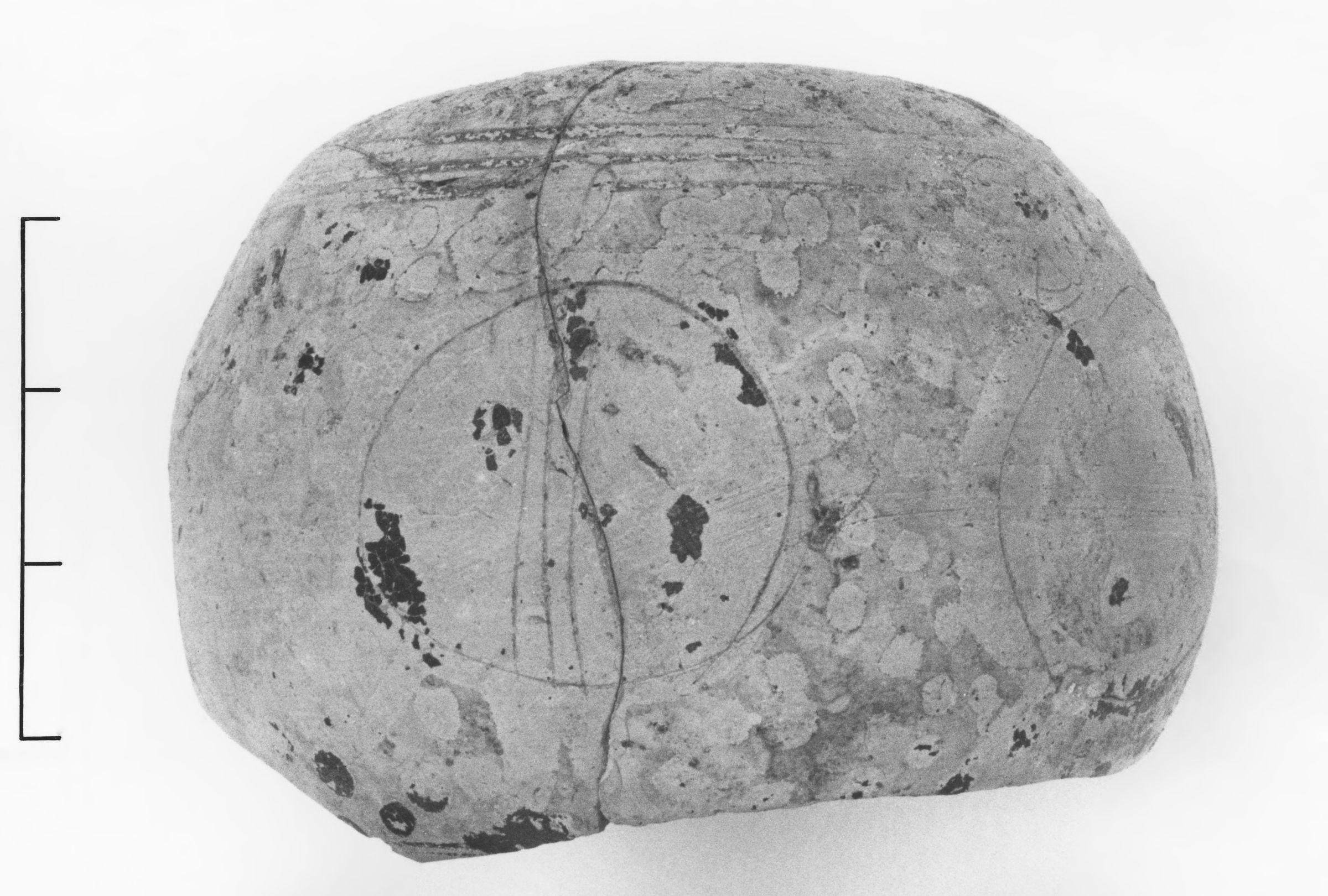 A Large Preserved Portion of a Late Corinthian Hailstone Warrior Aryballos