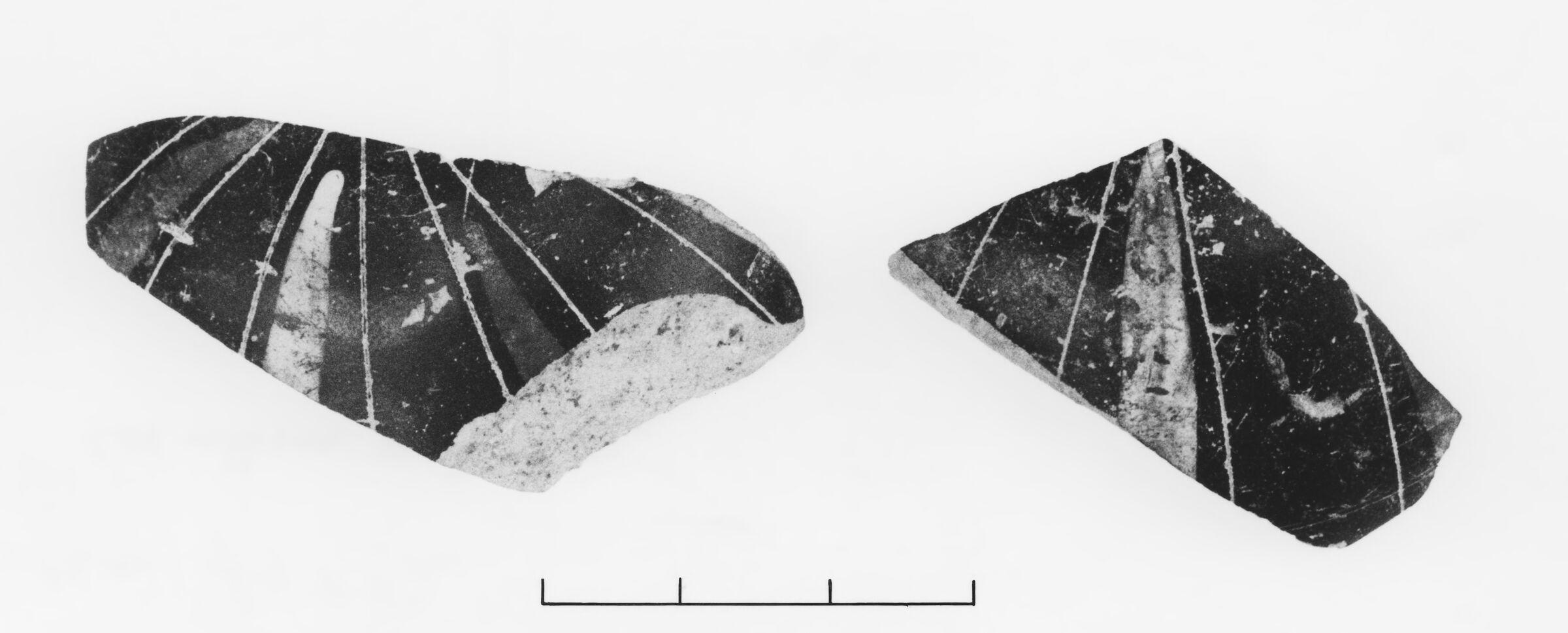 Fragments of an Early Corinthian Football (Gourd) Aryballos