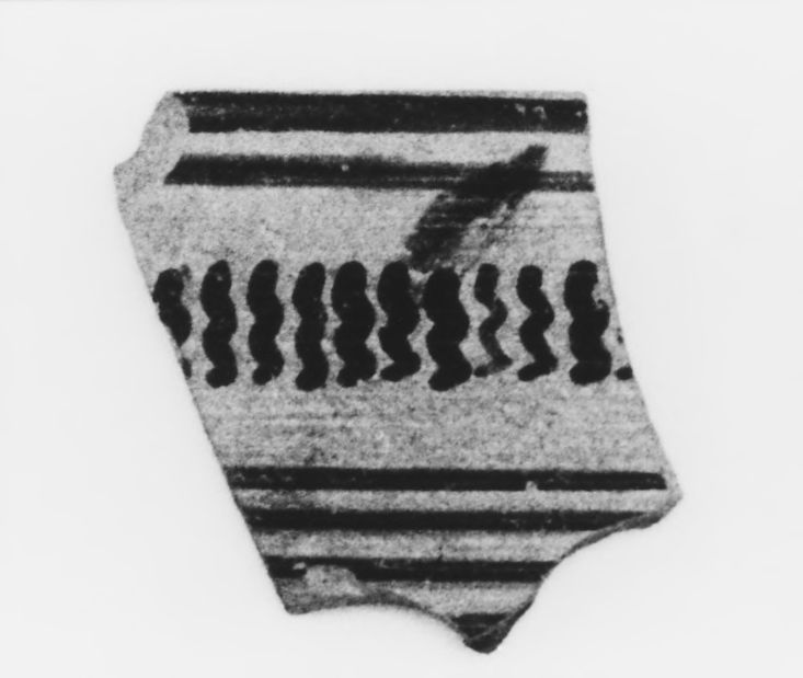 Late Protocorinthian Linear Kotyle Fragment