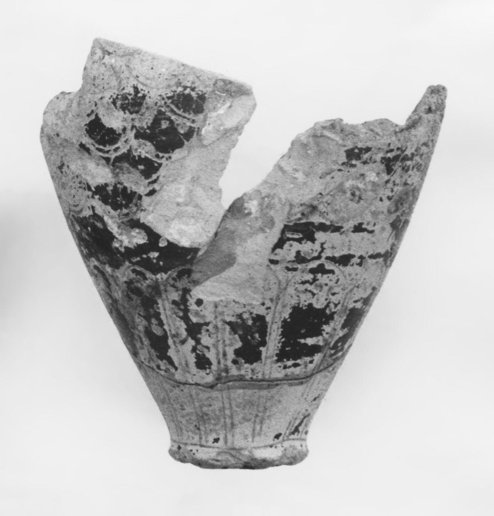 Lower Portion of a Late Protocorinthian Piriform Aryballos