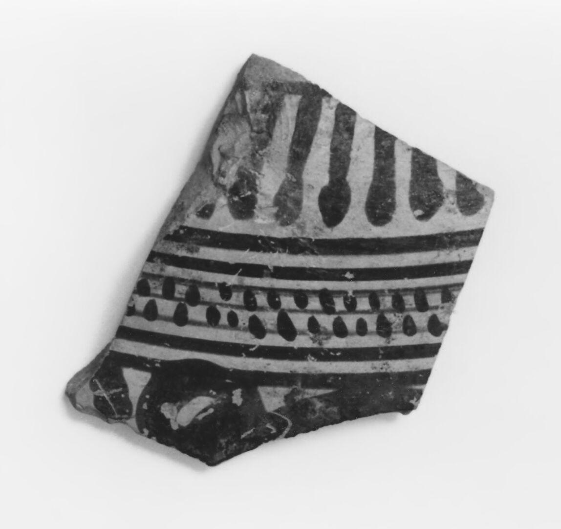 Middle Corinthian Aryballos Fragment