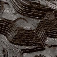 Open Pit Copper Mine At Pima, Arizona