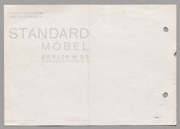 Breuer Metal Furniture (Pamphlet For Standard Möbel, Lengyel & Co., Berlin)