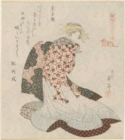 Courtesan As Tôbôsaku (Dongfang Shuo), From The Series Courtesans Viewed As The Immortals Of Ressenden, One Of Seven (Keisei Mitate Ressenden, Shichiban No Uchi)
