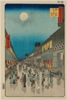 Night View Of Saruwaka-Machi (Saruwaka-Machi Yoru No Kei), From The Series One Hundred Famous Views Of Edo (Meisho Edo Hyakkei)