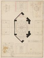 Elevation, Floor Plan, and Details of a Room