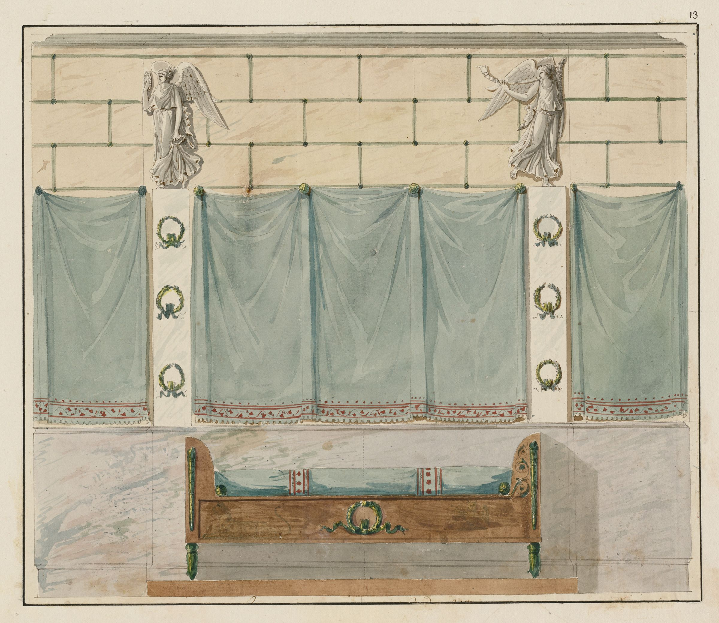 Elevation Of A Bedroom Wall