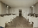 Charity, Hospitals: United States. New York. New York City. Metropolitan Hospital, Blackwell's Island: Metropolitan Hospital, New York City: Tuberculosis Infirmary.: Ward, Female.   Social Museum Collection