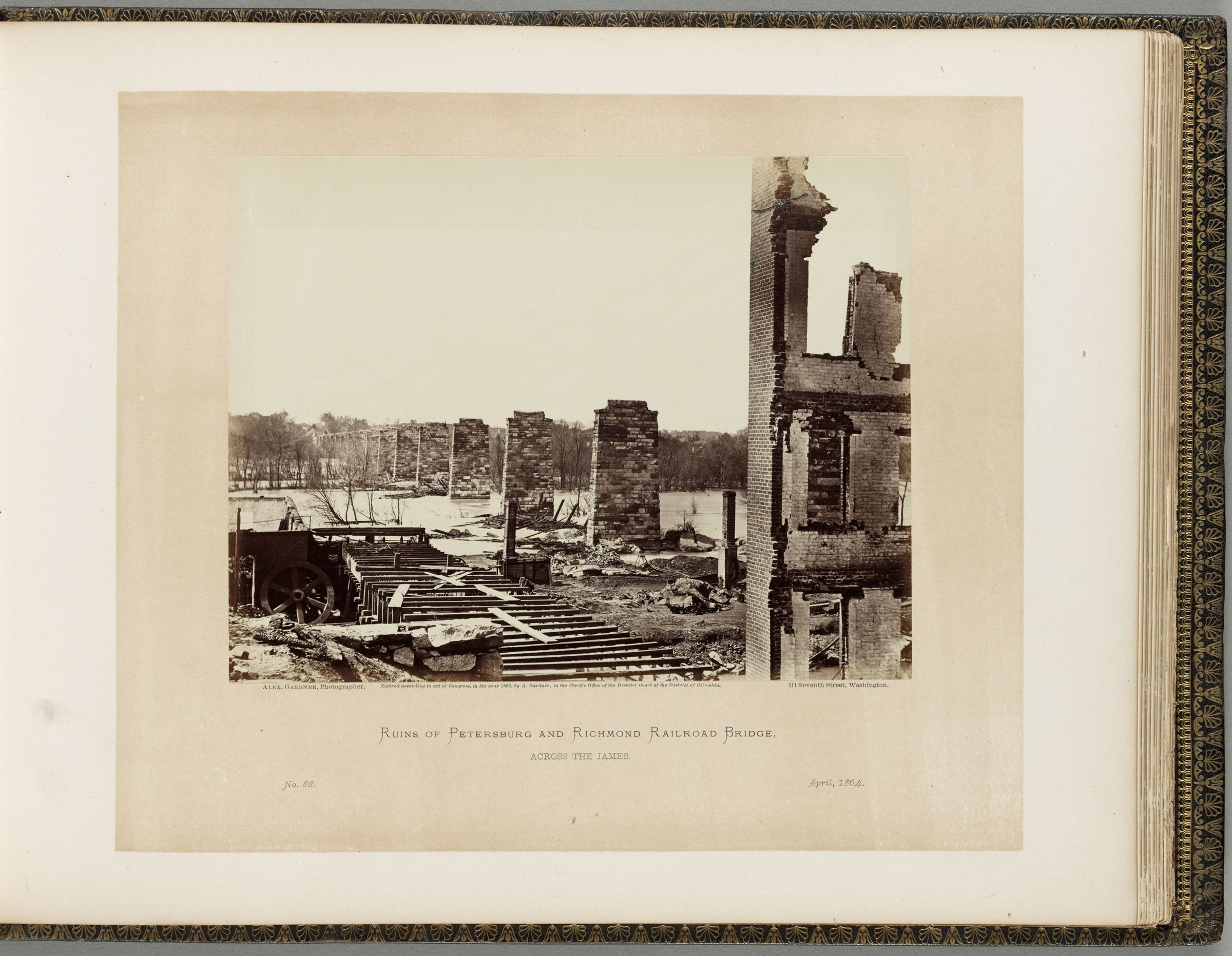 Ruins Of Petersburg And Richmond Railroad Bridge, Across The James