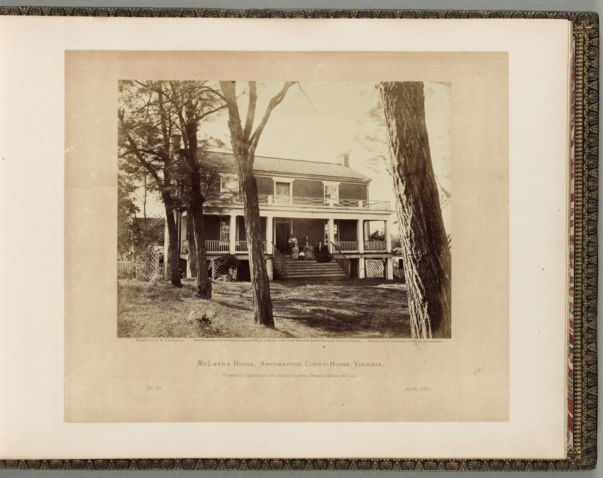 Mclean's House, Appomattox Court-House, Virginia, Where The Capitulation Was Signed Between Generals Grant And Lee