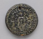 Amulet with Holy Rider and Virgin Enthroned