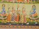 Pichhavai Depicting Dana Lila (Krishna Demands A Toll From The Gopis)
