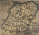 Government, City: Germany. Nuremberg. Plan of City & of Garden Suburb: Town Planning, Germany: Old Nürnberg showing old type of street plan copied by modern city planners_.   Social Museum Collection