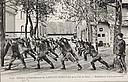 Government, City: France. Paris. Municipal Fire Protection: Municipal Fire-Protection, Paris, France: Physical Training for Firemen: Mouvements d'assouplissement.   Social Museum Collection